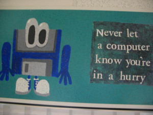 Quote painted on ceiling tile of Robin Walker's computer lab found on ...