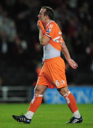 Charlie Adams Charlie Adams of Blackpool looks dejected at the end of