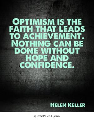 helen keller optimism quote achievement quotes