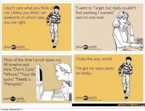 Sarcastic ecards about men