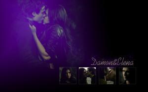 The Vampire Diaries Damon & Elena Wallpaper