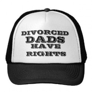 Divorced dads have rights. mesh hat