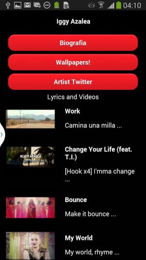 Iggy Azalea music & lyrics - screenshot