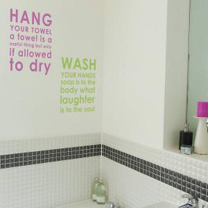 homepage > NUTMEG > BATHROOM RULES WALL STICKER