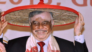 Chief Justice of India P Sathasivam being felicitated with