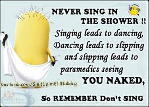 minions singing