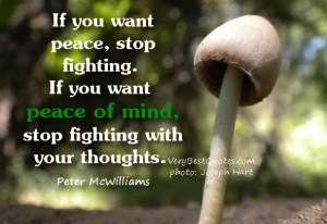 If you want peace - peace of mind quote