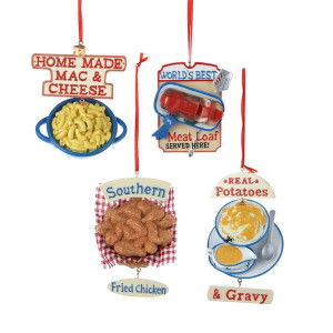 Christmas Ornaments Pack of 12 Artificial Home Made Food with Sayings ...