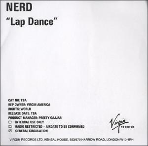 NERD, Lap Dance, UK, Promo, CD-R acetate, Virgin, CD ACETATE, 373271