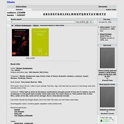 Othello Summary guide at Absolute Shakespeare. Othello Summary ...