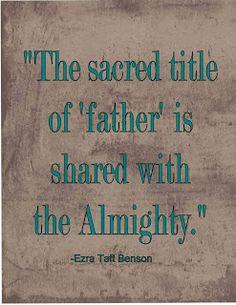 President Ezra Taft Benson April 1981