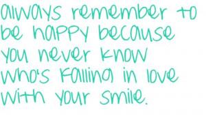 be happy, quotes, smile