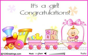 Go Back > Gallery For > Congratulations Baby Girl Animation