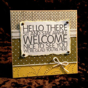 Welcome To Our Home - 5x5 Plaque - Wall and Tabletop Decor. $26.00 ...