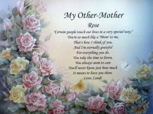 MY OTHER MOTHER PERSONALIZED POEM IDEAL BIRTHDAY, MOTHER'S DAY OR ...
