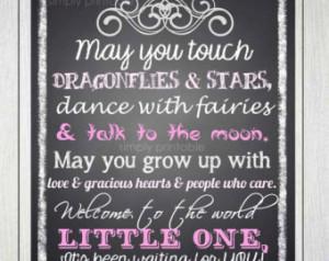 Baby Girl Quote Printable 11x14 Pri nt ...