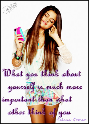 Selena Gomez quote 7 by saritacrazy