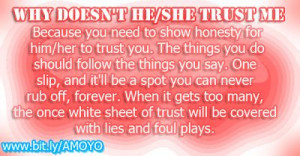 Why doesn't he/she trust me? - Amoyo