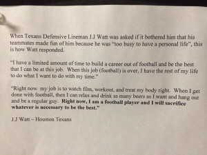 texans de j j watt shows why his work ethic is unparalleled in the nfl ...