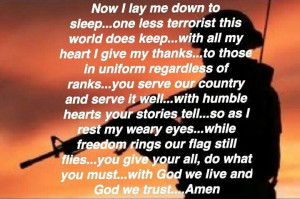 Thank You Our Military Quotes And Encouraging Words Pinterest Picture
