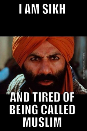 Funny Pictures - I am sikh and tired of being clled muslim