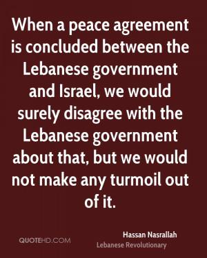 Hassan Nasrallah Peace Quotes