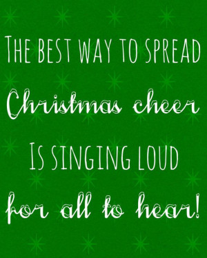 ... to Spread Christmas Cheer Elf Movie Quote Holiday 8 x 10 Digital