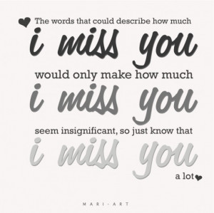 ... miss you would only make how much i miss you seem insignificant, so