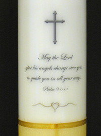 Personalise your baby candle with an inscription printed on the ...