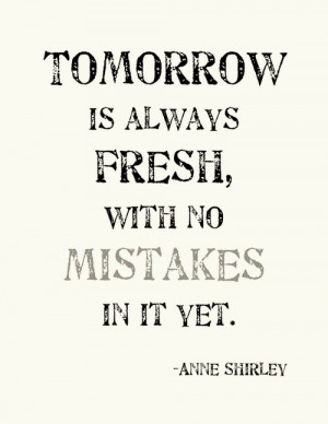 anne shirley, hope, phrases, quotes, tomorrow