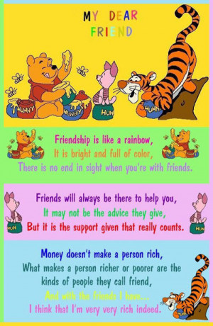 Winnie The Pooh And Friends Wallpaper of Friendship's Day