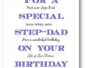 Step-Dad Birthday Card - Personalized Step-Dad Birthday Card - Step ...