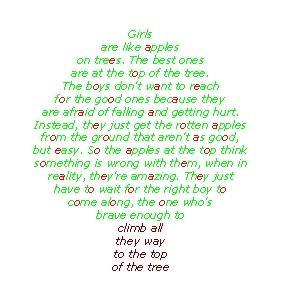 The apple poem