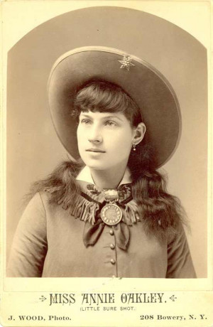 ... cowgirl sharp shooter annie oakley was born in drake county ohio