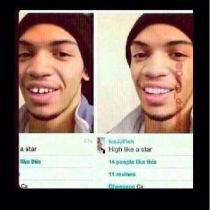 Ice JJ Fish Teeth Straight