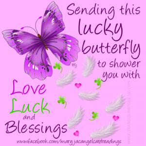 Sending this lucky butterfly to shower you with luck