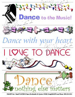 Dance Bookmarks 04 Quotes