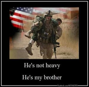 Combat soldiers, brotherhood