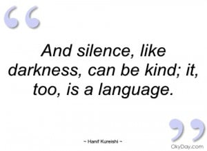 and silence hanif kureishi