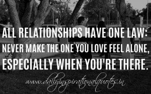 Quotes About Feeling Alone In A Relationship