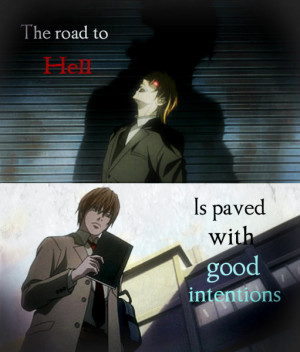 Light Yagami- The Road to Hell by PrincessBlueFire