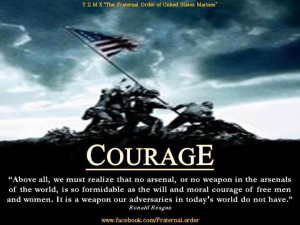Marine Corps Courage Statement by Ronald Reagan