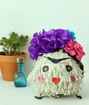 DIY Frida Kahlo Pull-String Piñata - mom.me