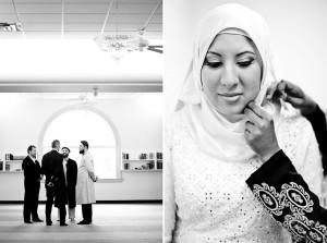 muslim bride getting ready wedding nikah ceremony toronto