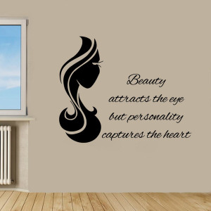 Beauty Quote Girl Power Black Vinyl Sticker Wall Art