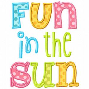Home See It All Fun In The Sun Applique