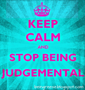 On Being Judgemental