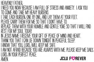 ... prayer.