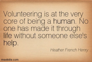 ... Service And Volunteering ~ Quotes Community Service Volunteering