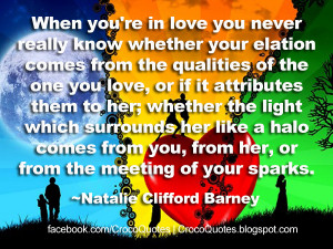 you're in love